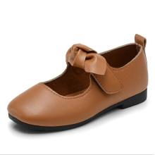 Горячая Оптовая продажа PU обувь из светодиодов для детей кожаные девушки обувь