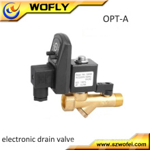 max. 90 degrees Celsius brass timer water solenoid drain valve for compressor