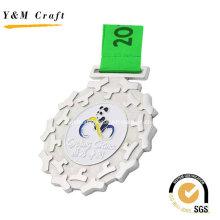 Silver Zinc Alloy Award Medal Custom Ym1172