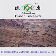 Plancher d'ingénierie en bois antique gaufré