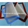 Alfombra de silicona fácil de limpiar de silicona Reutilizable FDA grados de parrilla y fibra de vidrio personalizado antiadherente de silicona resistente al calor alfombras pan