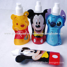 Hot sale popular promotion foldable plastic water bottle, made of durable plastic film