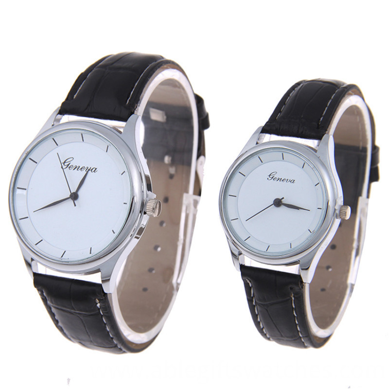 lover leather quartz watch