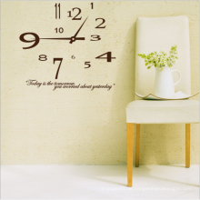 Clock Wall Paper Printing Benutzerdefinierte Clock Home Decor Wandaufkleber