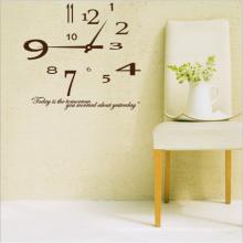 Reloj de papel de pared de impresión Reloj personalizado decoración del hogar etiqueta de la pared