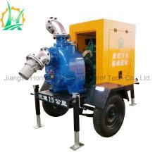 Pompe à eau diesel auto-amorçante d'urgence avec couvercle de pluie