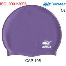Cheap Purple Silicone Swimming Caps,  Dome Swim Caps With 100% Soft Silicone