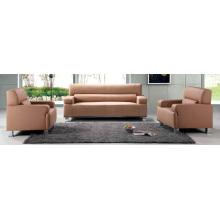 Hotel Furniture 1 + 1 + 3 Muebles para sala de espera de cuero Cómodo conjunto de sofás