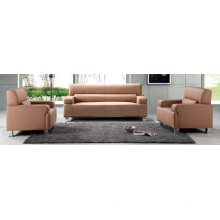 Hotel Furniture 1+1+3 Leather Waiting Room Furniture Comfortable Sofa Sets