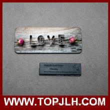Nom personnalisé MDF impression en bois magnétiques badge
