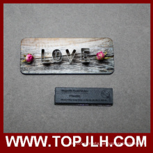 Custom Name Print MDF Wooden Magnetic Name Tag