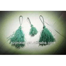 sky blue polyester ornament tassel cord for curtain and bed decoration