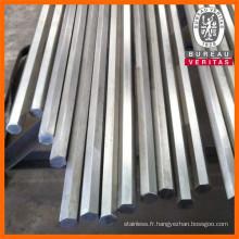 Barre hexagonale lumineux d'acier inoxydable 316L