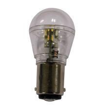 Diodo emissor de luz 0.7W, S8, Base BA15S / BA15D / BAY15D, 16pcs SMD3014