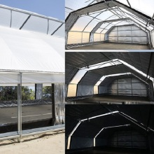 Hot selling 100% automatic blackout greenhouse