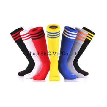Hersteller kundenspezifische OEM Service Terry & schlicht Fußball Socken