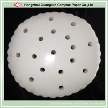 Food Grade Non Stick Silicone Steaming Paper with Holes