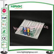 Sistema de empurrador de prateleira de rolo de alimentação automática