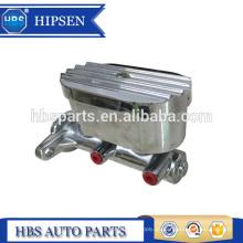 """Aluminium-Chrom-Hauptzylinder mit Fernbedienung 1 """"Bohrung vier 3/8"""" Anschlüsse mit gleicher Übereinstimmung mit GM Korvetten-Hauptzylinder"""
