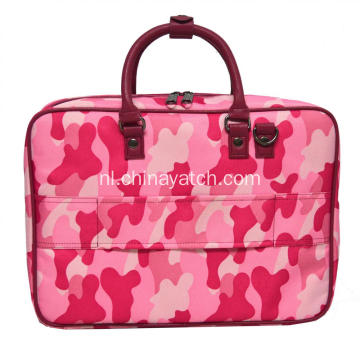 Roze laptop met PU-handgreep