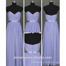 Wholesale Sweetheart Lavender color Bridesmaid Dresses Bodice With Sash Maid of honor wedding dess