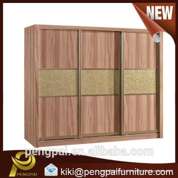 Three doors Mela mine bedroom chest with walnut color