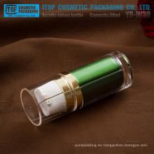 Cilindro de 30ml (15 ml x 2) YB-W30 redondo de buena calidad para botella de plástico de acrílico grueso doble cámara día/noche loción