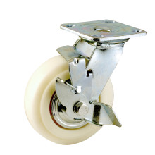 H8 Heavy Duty Type Double Ball Bearing Side Brake Type PP Caster