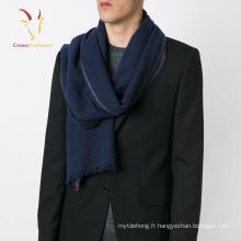 Écharpe mélangée en soie et cachemire pour homme