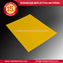 Specialized acrylic reflective sheeting for roadway safety badge
