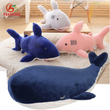 Custom Cute Soft Animal Toy Red/Pink/White/Blue Baby Stuffed Plush Shark And Whale Toy For Kids