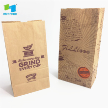 Recycled Fast Food Flat Brown Kraft Pappersväskor