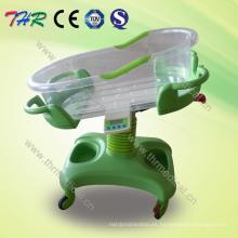 Con la temperatura y la función de la música Tiltable Baby Bassinet Cart