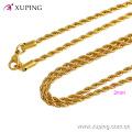 42884 Xuping Jewelry 2016 collier de femmes, long collier en or 24k