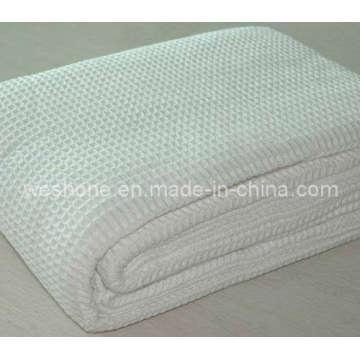 Couverture de coton doux gaufre organique 100 %