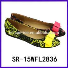 2015 heiße verkaufende wegwerfbare flache Schuhmädchen neue Entwurfsschuhe flache Schuhe