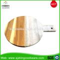 Nuevo estilo de madera y tablero de queso de mármol blanco con mango