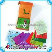 impression des cartes flash pour enfants