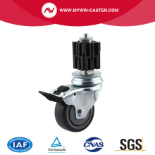 Brake Square Expander Swivel TPE Institutional Caster