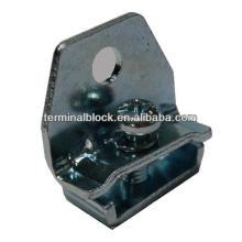 TS-0021 Revestimento de zinco de aço, suporte de rolamento de extremidade de trilho DIN
