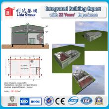 Bâtiment en acier de construction de deux étages de structure métallique d'entrepôt de structure de construction