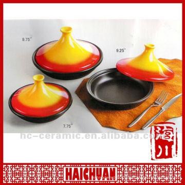 Tajine de cerámica, olla de tajine, pote de tajine de cerámica