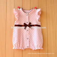 2017 Baby products suppliers baby plain romper simple design baby linen romper