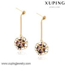 92062 diamantes de imitación, accesorios de princesa, pendientes de los últimos diseños de joyas de oro con elegancia Piedra preciosa de circón sintético sintético