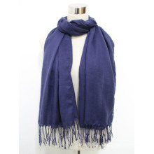 Lady Fashion Viscose Twill Silk Scarf with Tassels (YKY1046)