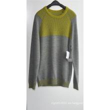 Hombres de invierno de manga larga con punto de punto suéteres