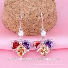 Precio de joyería de moda de cristal de venta de 1 carro de compras de pendiente de diamante en línea