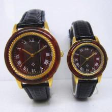 Hlw097 OEM montre en bois de montre en bois de montre en bambou des hommes et des femmes de haute qualité