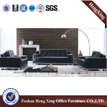 Metal Base Stable Structure Black Office Sofa
