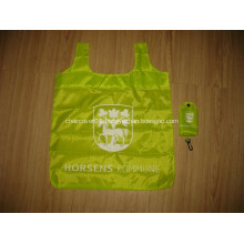 Promotional Polyester Foldable Tote With Pouch and Hook